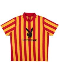 Supreme - Playboy Soccer Jersey Red - Lyst