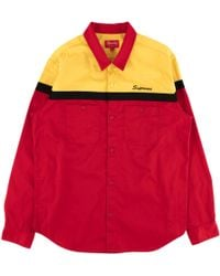 Supreme - Color Blocked Work Shirt - Lyst