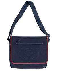 Supreme Lacoste Small Messenger Bag Navy - Blue