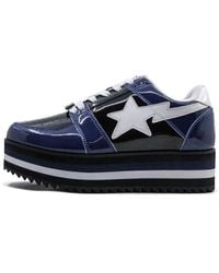 A Bathing Ape Platform Sta Low Shoes - Black