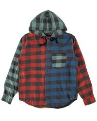 Supreme Hooded Buffalo Plaid Flannel Shirt 'fw 17' - Multicolor