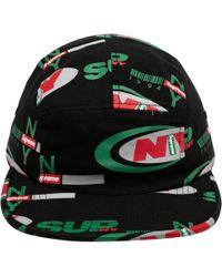 6c279b17144 Supreme Pre-owned Hat in Black for Men - Lyst