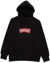 "Supreme Commes Des Garcon Hooded Sweatshirt ""ss 17"" - Black"