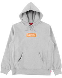 Supreme Box Logo Hooded Sweatshirt 'fw 17' - Gray