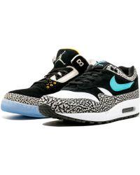 1a5748c379 Nike Womens Air Max 1 'wmns Safari-white/blue' - Size 10.5w in Blue ...