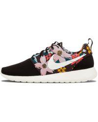 956644f88025 Lyst - Nike Roshe Run Leopard Print Running Sneakers in Gray