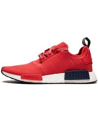 Adidas Lace Nmd R1 Womens Shoes Size 10w In Red Save 58 Lyst