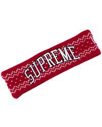 Supreme New Era Arc Logo Headband (fw17) - Red