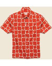 Levi's 1950s Atomic Square Print Shirt - Red