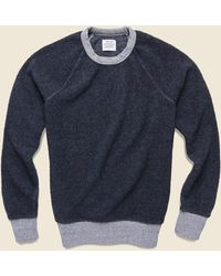 Save Khaki Berber Crew Sweatshirt - Navy - Blue