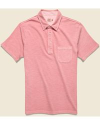 Faherty Brand Garment Dyed Polo Shirt - Rose - Pink