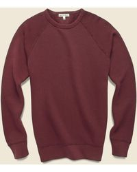 Alex Mill French Terry Sweatshirt - Bordeaux - Red
