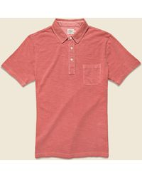 Faherty Brand Garment Dyed Polo - Faded Red
