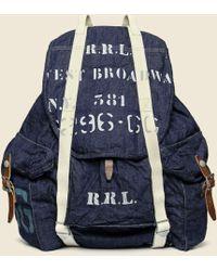 RRL - Collins Backpack - Navy - Lyst