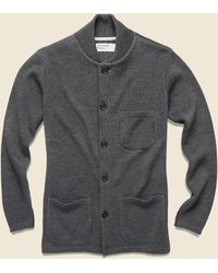 Universal Works Knit Work Jacket - Charcoal - Gray