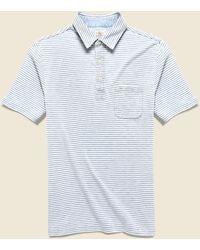 Faherty Brand Indigo-dyed Polo - Salt Wash Indigo Stripe - Blue
