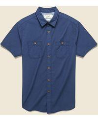 Grayers Townsend Dobby Shirt - Navy - Blue