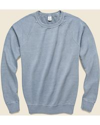 Save Khaki Pigment Dye Supima Fleece Sweatshirt - Storm - Blue