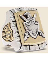 LHN Jewelry Coat Of Arms Souvenir Ring - Metallic