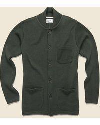 Universal Works Knit Work Jacket - Olive - Green