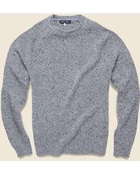 Alex Mill Alpaca Wool Donegal Crew Sweater - Stone Flag Gray