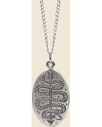 LHN Jewelry Serpent & Arrow Necklace - Sterling Silver - Metallic