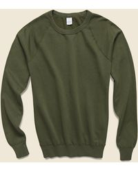 Save Khaki Supima Fleece Sweatshirt - Olive - Green