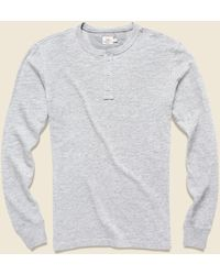 Faherty Brand Slub Cotton Henley - Gray