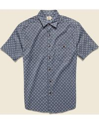 Faherty Brand Coast Shirt - Atlas Print - Blue