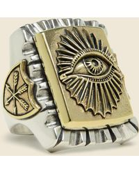 LHN Jewelry - All Seeing Eye Souvenir Ring - Silver/brass - Lyst