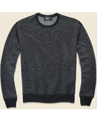 Ralph Lauren · RRL | Fleece Crewneck Sweatshirt - Black | Lyst