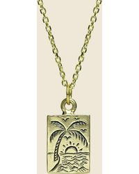 LHN Jewelry - Paradise Necklace - Brass - Lyst