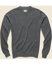 Faherty Brand Sconset Crew Sweater - Ash Heather - Gray