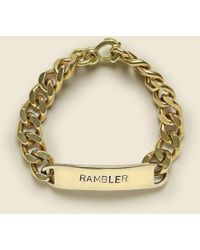 LHN Jewelry Id Bracelet - Rambler - Metallic
