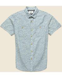 Grayers Drayton Printed Chambray Shirt - Aegean Blue