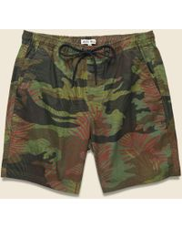 Alex Mill Pull On Short - Tropical Camo - Green