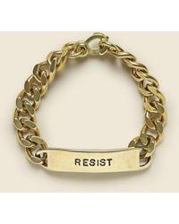 LHN Jewelry Id Bracelet - Resist - Metallic