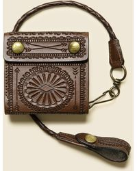 RRL - Hand-tooled Leather Rider Wallet - Saddle Brown - Lyst