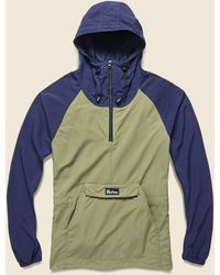 Penfield Pacjac Colorblock Jacket - Navy Olive - Blue