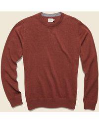 Faherty Brand Sconset Crew Sweater - Autumn Rust - Red