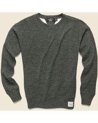 RRL Cotton Wool Crewneck - Olive Heather - Green