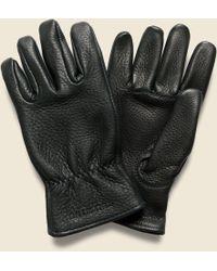 Red Wing Buckskin Unlined Gloves - Black