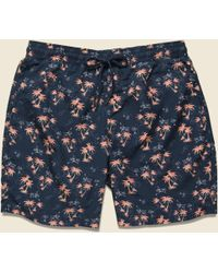 Grayers - Burning Palm Swim Trunk - Carbon Spice Coral - Lyst