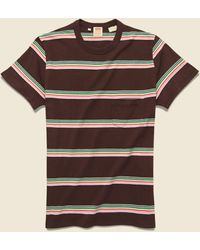 Levi's 1960s Casual Stripe Tee - Brown