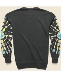 Jungmaven Alpine Raglan Sweatshirt - Stained Glass Tie Dye - Multicolor