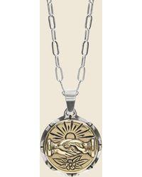 LHN Jewelry Fellowship Souvenir Necklace - Silver/brass - Metallic