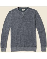 Faherty Brand Dual Knit Crew Sweatshirt - Washed Black