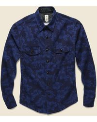 Kato Aloha Print Shirt Jacket - Navy - Blue