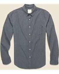Lyst - Life After Denim Ss Clippers Shirt in Gray for Men f6b6bd398