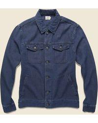 Faherty Brand Route 80 Jacket - Indigo - Blue
